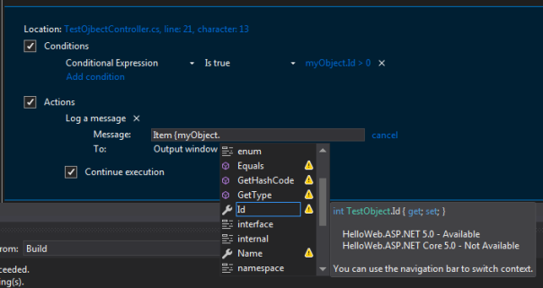 Point intellisense